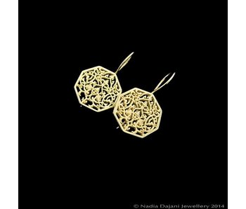 OCTAGON GOLD PLATED EARRINGS