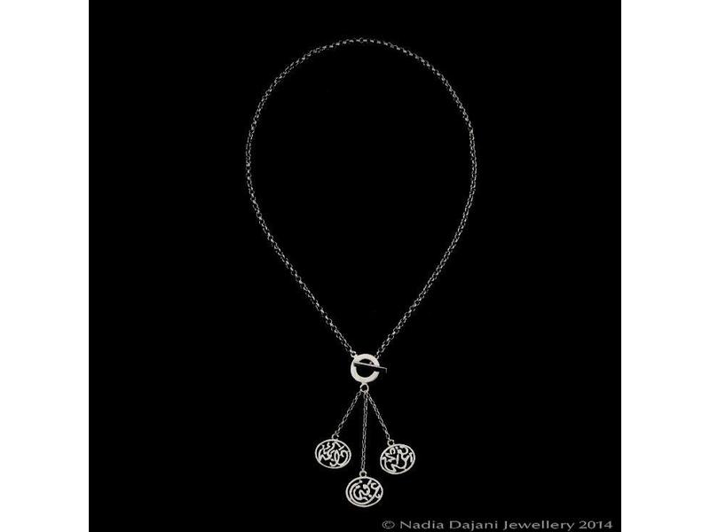NIMA AFIA CHAIN NECKLACE, WITH SILVER TASSEL