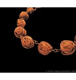 ONE ROW COPPER BEAD NECKLACE