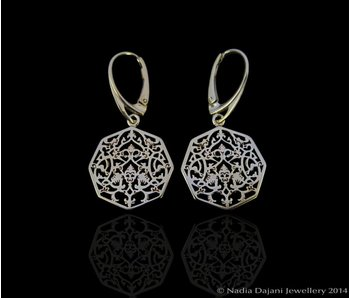 OCTAGON EARRINGS & FRENCH HOOK GP