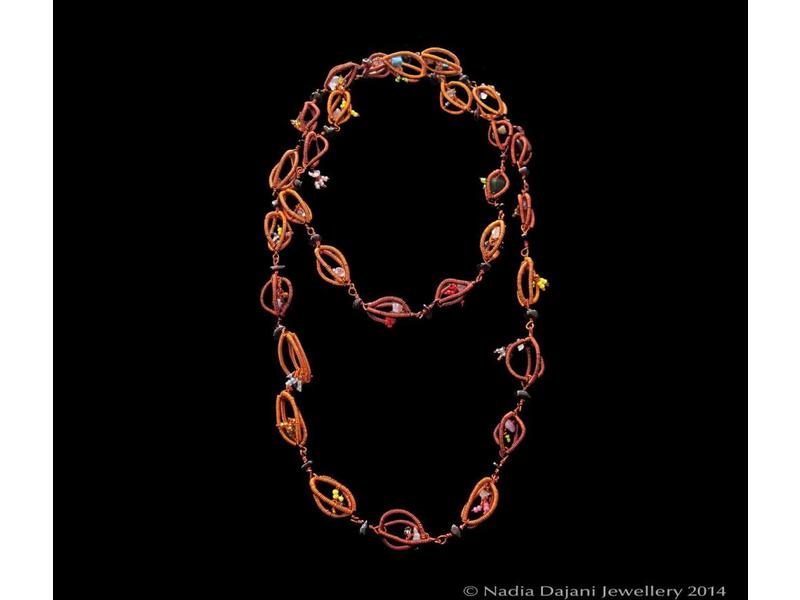 COPPER RIB LONG NECKLACE