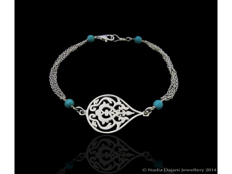 ARABESQUE BRACELET WITH THIN CHAINS