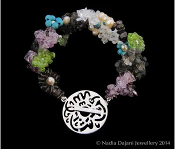 FLOWER BRACELET 2-ROW WITH MASHA ALLAH CLASP