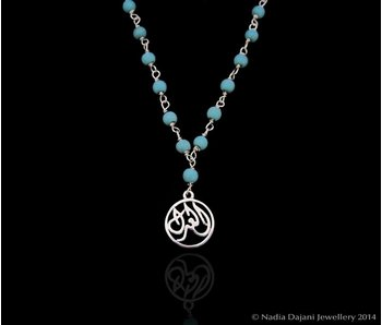 GEMSTONE NECKLACE WITH SALAM WORD