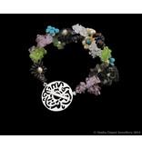 FLOWER BRACELET 2-ROW WITH MASHA ALLAH CLASP