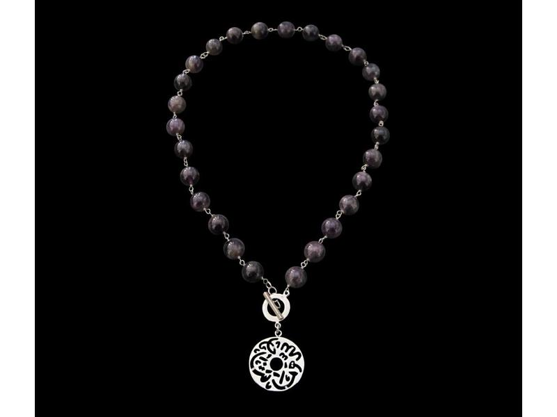 GEMSTONE NKL, CLASP & MASHA ALLAH DISC DROP