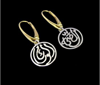 2-TONE GOOD HEALTH EARRINGS, FRENCH CLASP