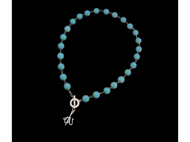TURQUOISE NECKLACE WITH ALLAH PENDANT