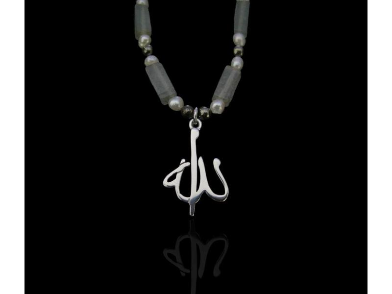 STONE NECKLACE WITH ALLAH MOTIF