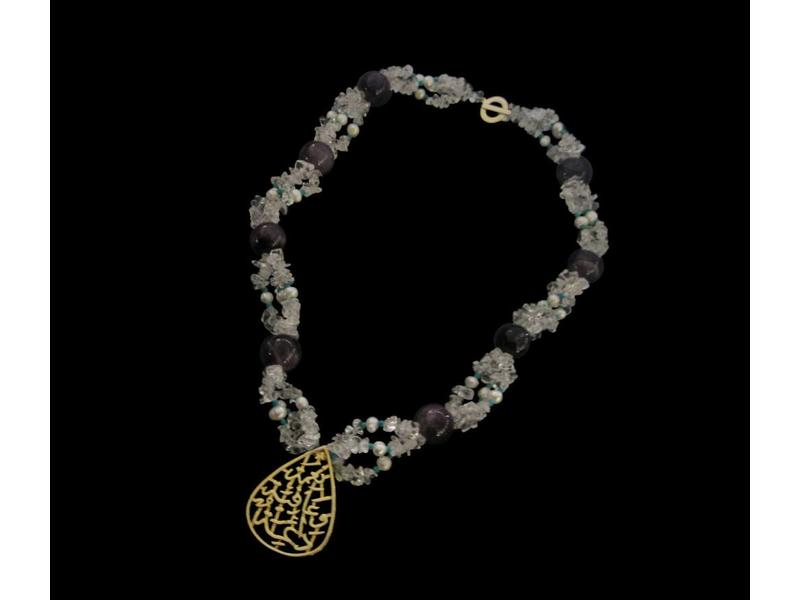 NIMAH NECKLACE EMBROIDERED STONES