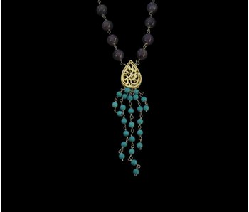 NIMAH STONE NECKLACE WITH TASSEL