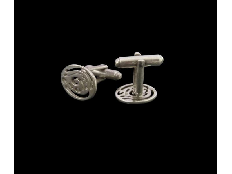 OVAL CUFFLINKS HAPPINESS