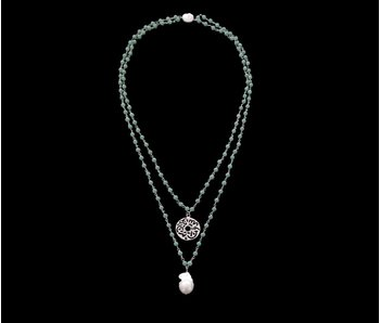 2 ROW GEMSTONE NECKLACE WITH MASHA ALLAH