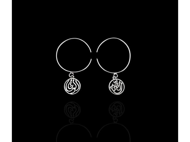 ROUND HOOP EARRINGS WITH GOOD HEALTH