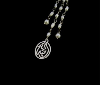 SHORT NECKLACE WITH SALAM WORD & TASSEL