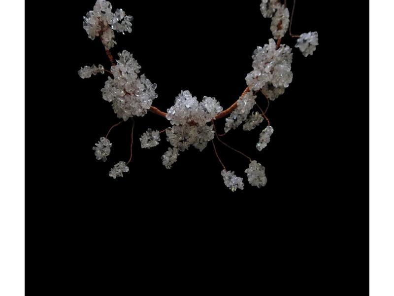 GEMSTONE FLOWER NECKLACE COPPER