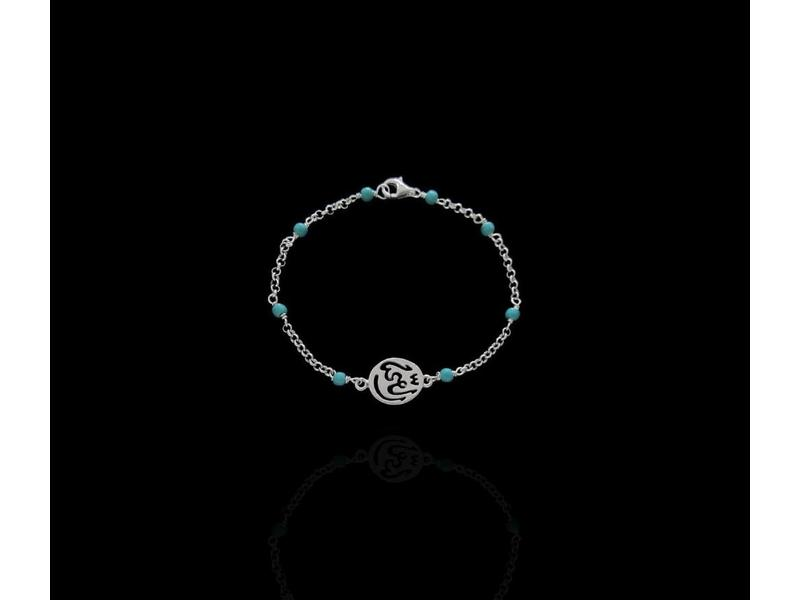 CHAIN AND GEMSTONE BRACELET WITH GOOD HEALTH