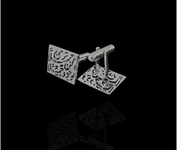 BE BEAUTIFUL SILVER CUFFLINKS