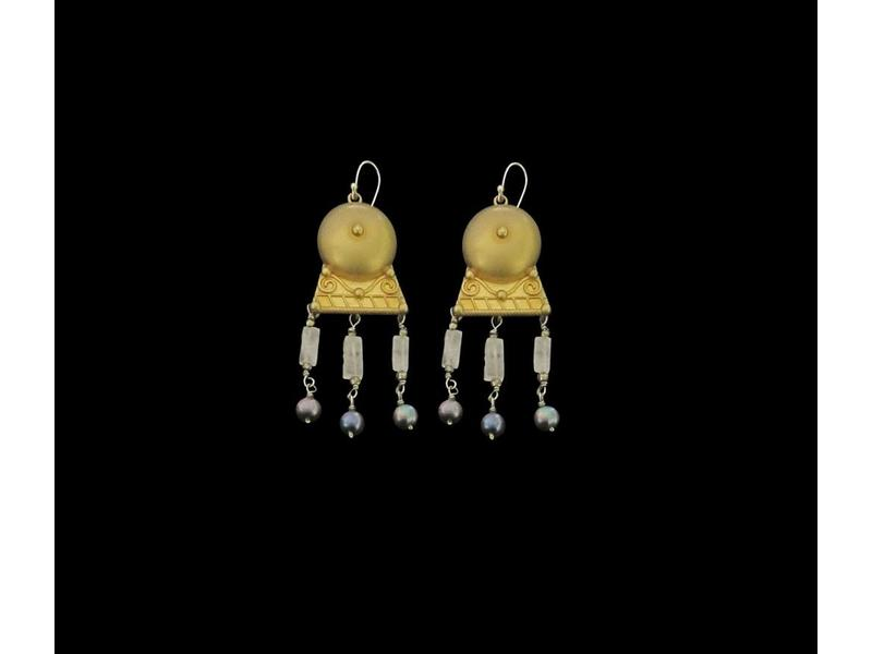 ROMAN EARRINGS WITH GEMSTONES