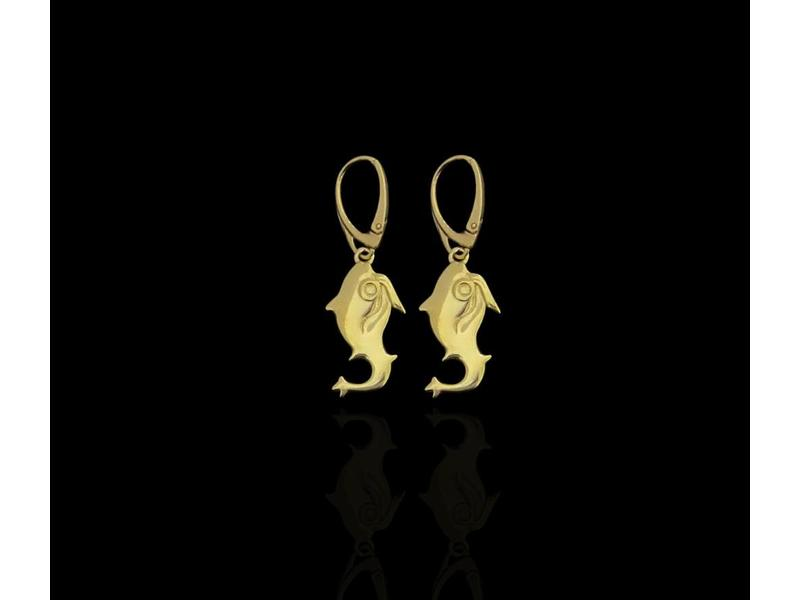 GOLD PLATED JERASH EARRINGS WITH FRENCH HOOK