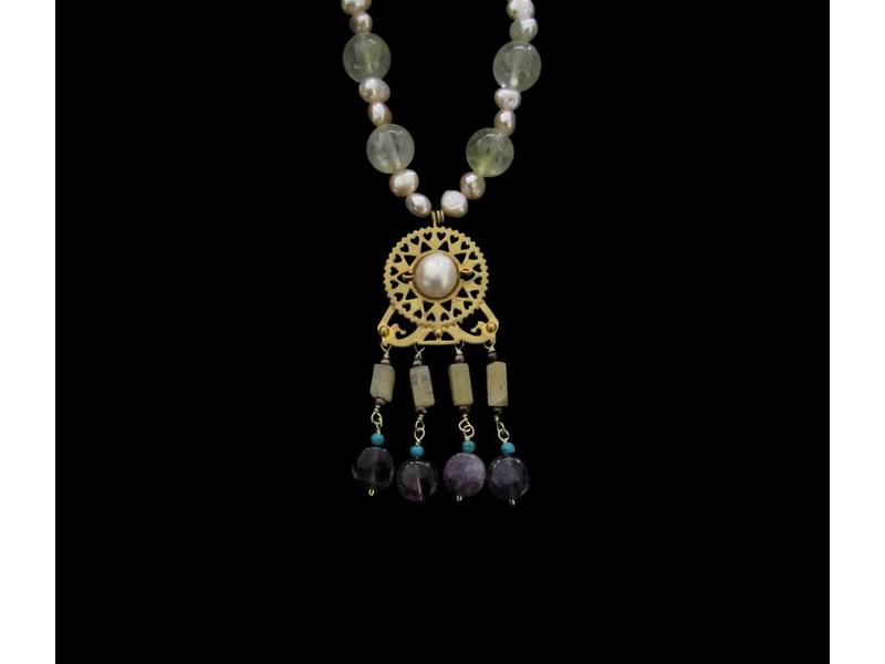 ROMAN NECKLACE WITH PEARLS