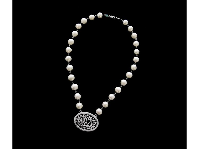 STONE NECKLACE WITH OVAL MASHAALLAH