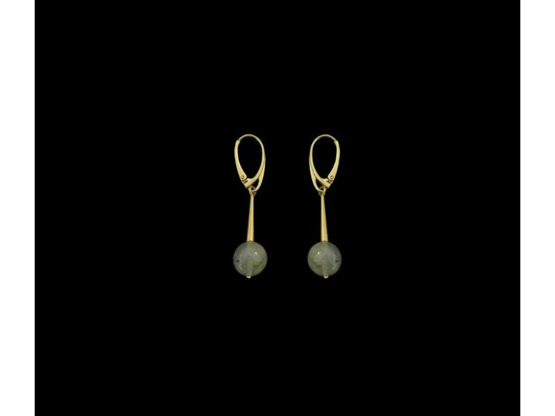 ROMAN SINGLE BAR EARRING GP