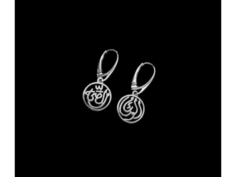 GOOD HEALTH SILVER EARRING WITH FRENCH CLASP