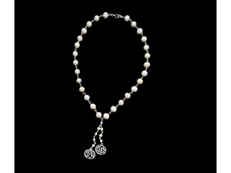 PEARL WIRE NECKLACE WITH NIMA AFIA PEARL TASSEL