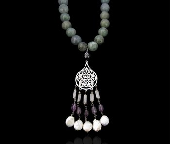 ARABESQUE NECKLACE WITH TASSEL