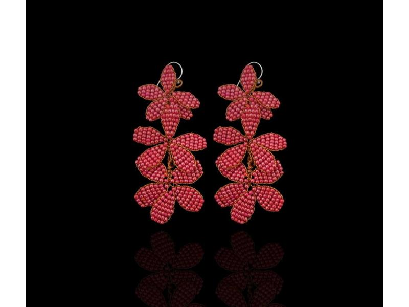 3-ROW NARJIS EARRINGS