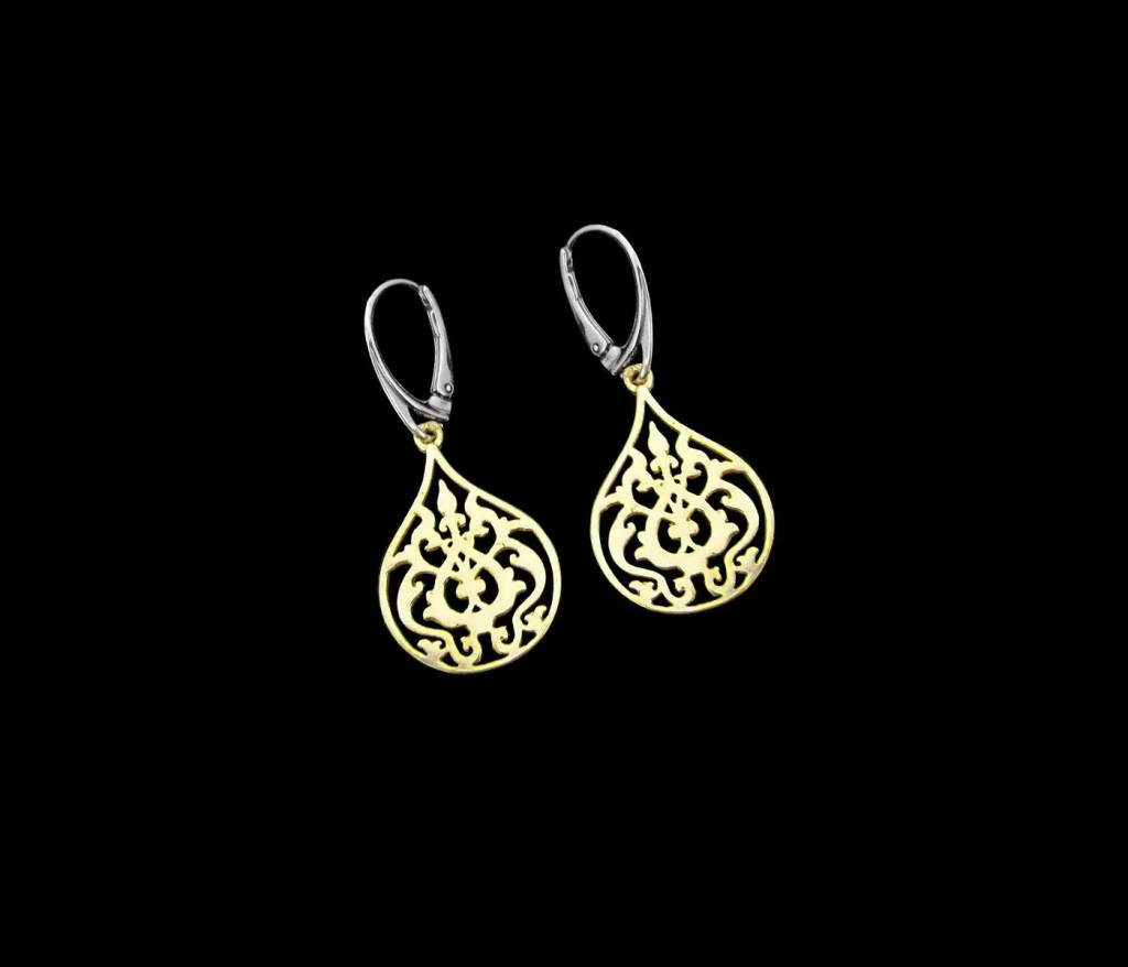 gold plated earring rosaforgyldt goldplated soelv earrings oereringe rose anna