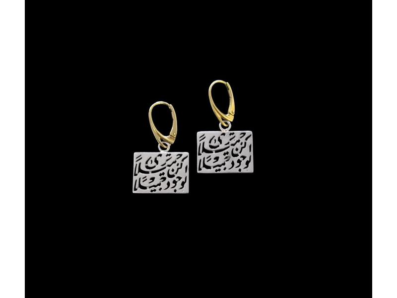 BE BEAUTIFUL EARRINGS IN SILVER WITH GOLD HOOKS