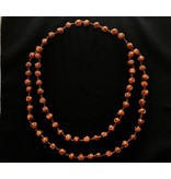 2 ROW MEDIUM COPPER MEDIUM BEAD NECKLACE LONG