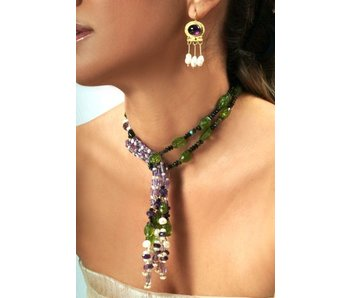 PERIDOT AND GOLD ROMAN NECKLACE