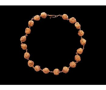 MEDIUM COPPER BEAD ONE ROW NECKLACE