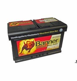 Banner AGM Starterbatterie 80 Ah Running Bull