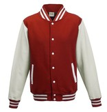 Personal College vest / jacket FIRE RED-WHITE Uni Adults