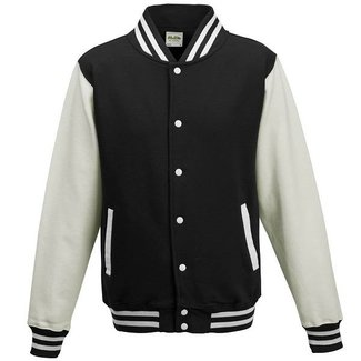 Personal College vest / jacket BLACK-WHITE Uni Adults