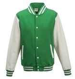 Personal College vest / jacket KELLYGREEN-WHITE Uni Adults