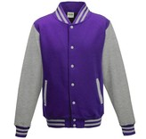 Personal College vest / jacket PURPLE-HEATHER GREY Uni Adults