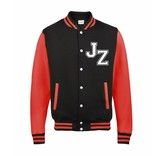 Personal College vest / jacket FIRE RED-WHITE kids