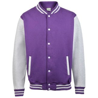 Personal College vest / jacket PURPLE-GREY kids