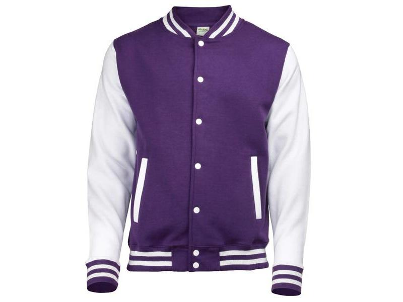Personal College vest / jacket PURPLE-WHITE kids