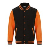 Personal College vest / jacket BLACK-FLUO ORANGE kids