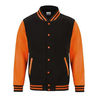 Personal College vest / jacket BLACK-FLUO ORANGE Adults