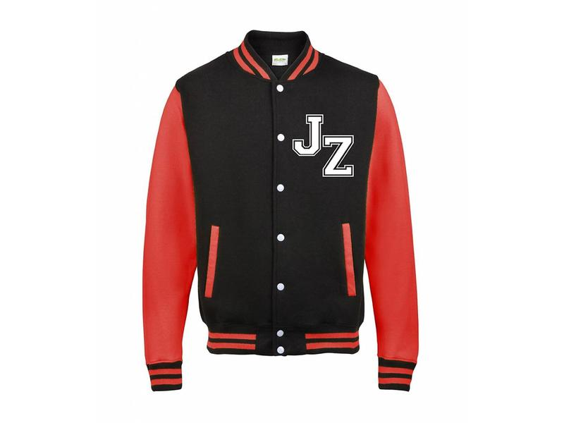 Personal College vest / jacket BLACK-FIRE RED kids
