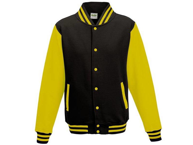 Personal College vest / jacket BLACK-YELLOW kids