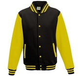 Personal College vest / jacket BLACK-YELLOW Adults