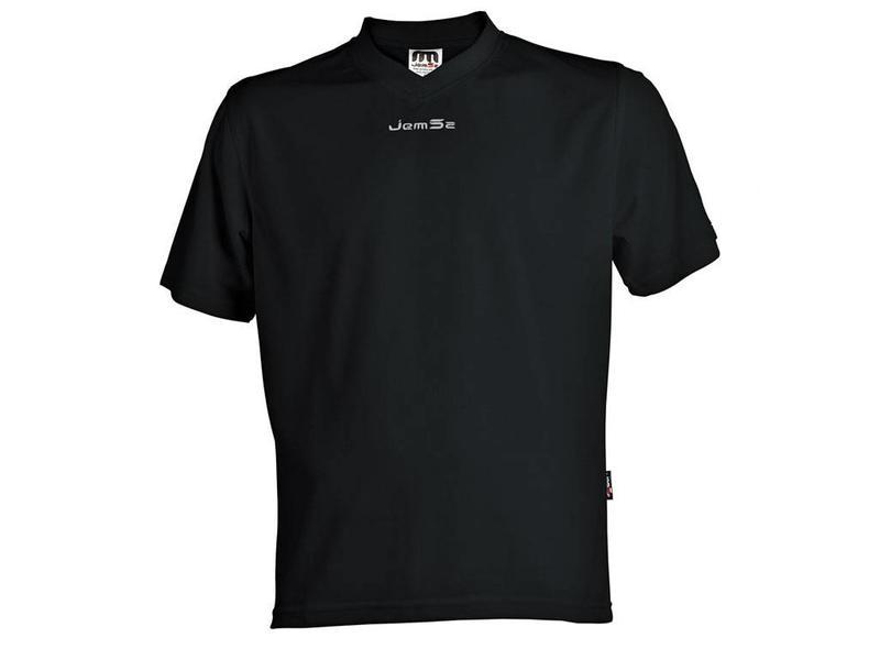 Jemsz Sportshirt London zwart maat 140